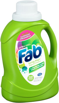 Fab® Spring Magic® Ultra with Sparkling Clean Stain Fighters Laundry Detergent 50 fl. oz. Plastic Jug