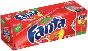 Fanta Fruit Punch Soda 12 oz Fridge Pack 12 pk Cans