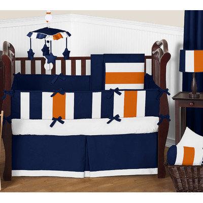 Sweet Jojo Designs Stripe 9 Piece Crib Bedding Set