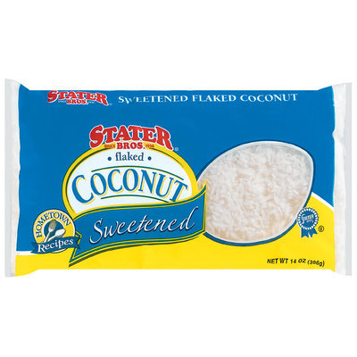 Stater Bros. Flaked Sweetened Coconut 14 Oz Bag
