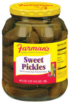 Farman's Sweet Pickles