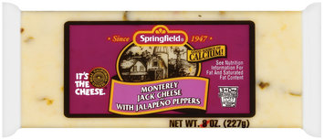 Springfield Monterey Jack W/Jalapeno Peppers Cheese 8 Oz Wrapper