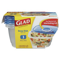 Glad Deep Dish Food Storage Containers