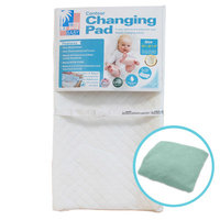La Baby Combo Pack with Contour Changing Pad and Terry Cover, Mint, 4 H x 32 W x 16 D