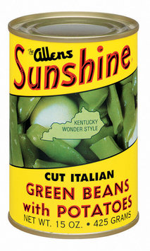 The Allens Sunshine Cut Italian W/Potatoes Kentucky Wonder Style Green Beans 15 Oz Can