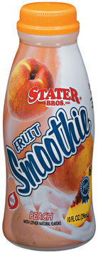 Stater Bros. Peach Fruit Smoothie 10 Fl Oz Plastic Bottle