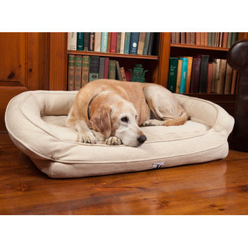 3dogpetsupply Premium Headrest Dog Bed with Memory Foam Color: Natural, Size: Medium (39