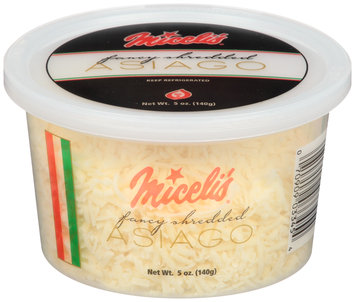 Miceli's® Fancy Shredded Asiago Cheese 5 oz. Tub