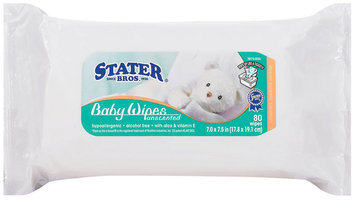 Stater Bros. Unscented Baby Wipes 80 Ct Package