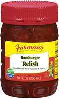 Farman's Sweet Blend W/Tomato & Spices Relish Hamburger  10 Fl Oz Plastic Jar