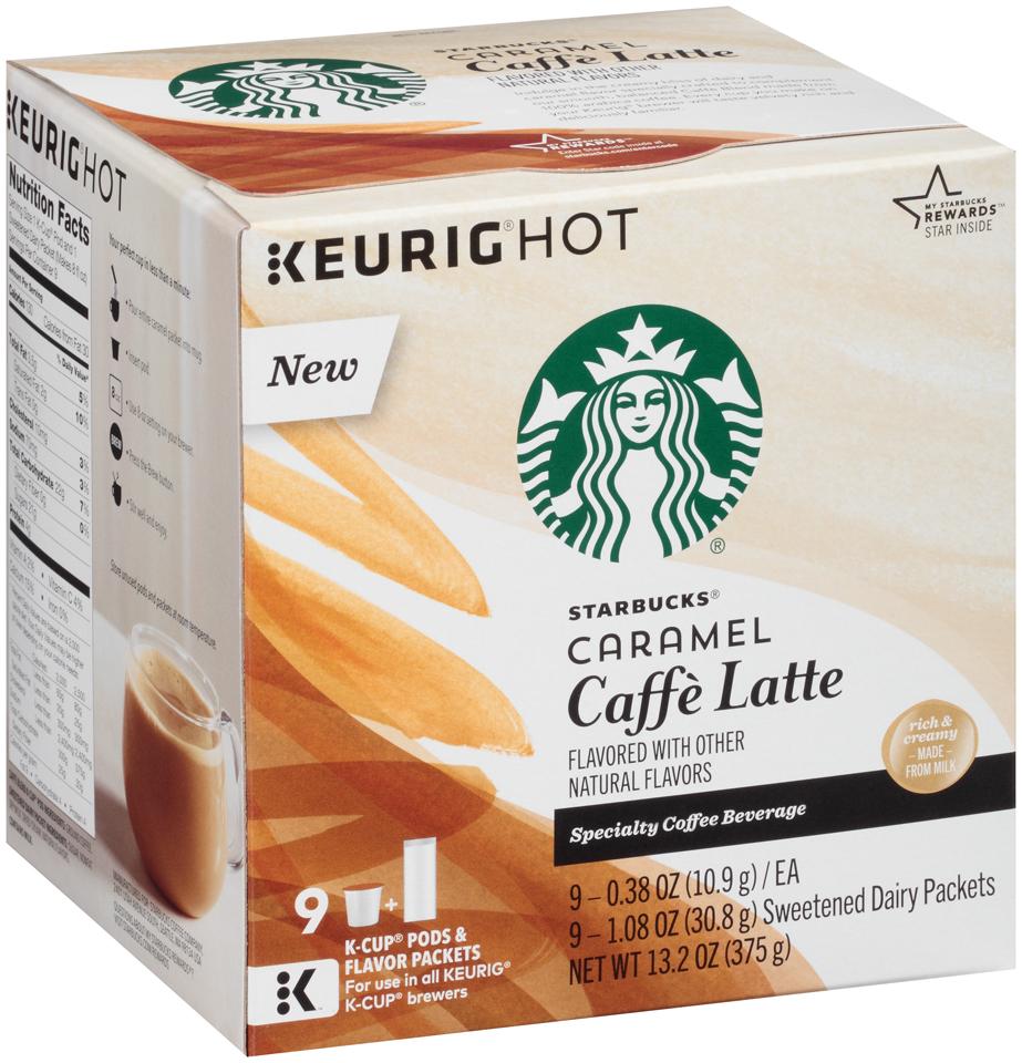 Starbucks Caramel Caffe Latte Specialty Coffee Beverage K-Cups