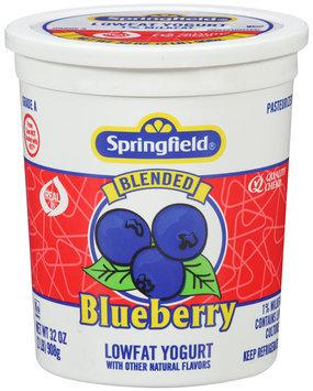Springfield® Lowfat Yogurt Blended Blueberry 32 oz.