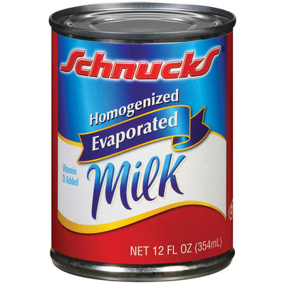 Schnucks Evaporated Homogenized Milk 12 Fl Oz Can