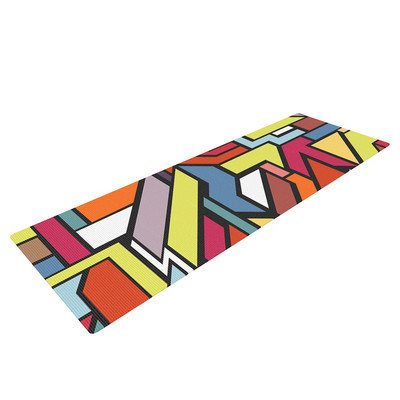 Kess Inhouse Abstract Shapes by Danny Ivan Yoga Mat