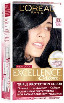 L'Oréal® Paris Excellence® Creme Triple Protection Color 1BB Velvet Black Hair Color Kit Box