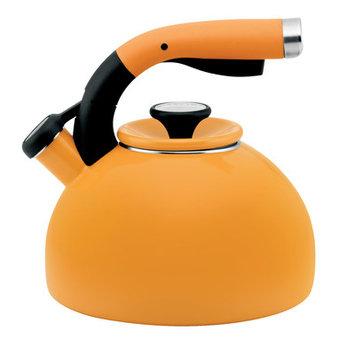 Circulon 2-Quart Morning Bird Teakettle Mustard Yellow #56584 - Traditional Tea Kettles/Pots