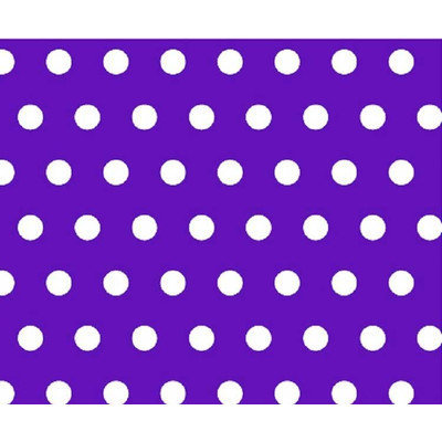 Stwd Polka Dots Portable Mini Fitted Crib Sheet Color: Purple