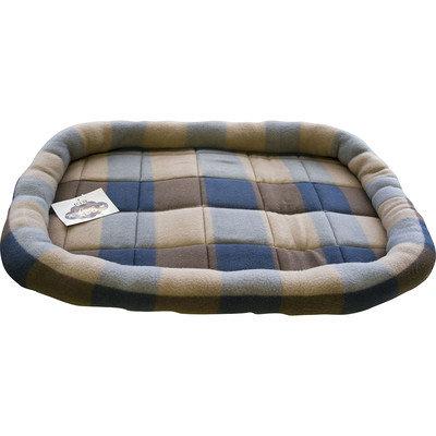 Motorhead Products Plaid Fleece Rolled Edges Crate Liner Size: Medium