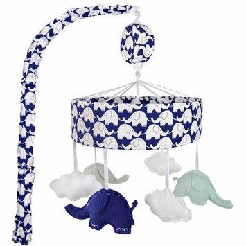Just Born Sleep Well Elephant Musical Mobile Color: Navy Elephants
