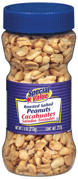 Special Value Raosted Salted Peanuts 7.5 Oz Plastic Jar