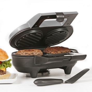 Holstein Fundamentals Metallic-Finish Two-Burger Grill
