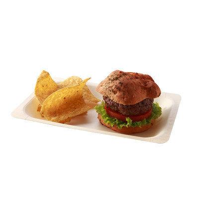 Restaurantware Rectangular Poplar Plate (200 Count) Size: Medium