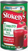 Stokely's from Concentrate Tomato Juice 46 Oz Can