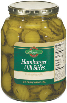 Haggen Hamburger Dill Slices Pickles 46 Fl Oz Jar