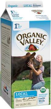 Organic Valley® 1% Lowfat Milk 0.5 gal. Carton