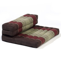 My Zen Home Dhyana Meditation Cushion Color: Brown / Burgundy