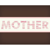 Secretly Designed Words For A Mother Wall Art Print, 7 H x 5 W x 0.25 D
