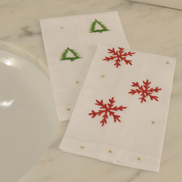 The Designs Of Distinction Snowflake Hand Towel (Set of 2) (Set of 2)