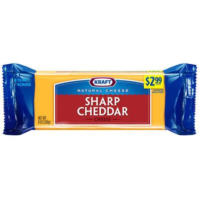 Kraft Natural Cheese Sharp Cheddar Cheese 8 oz. Chunk