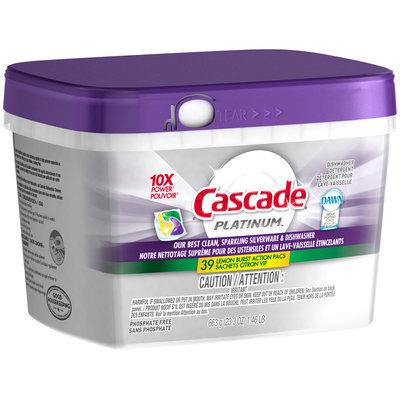 Cascade Platinum ActionPacs Dishwasher Detergent Lemon Burst