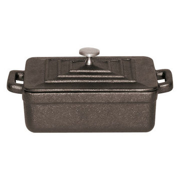 World Cuisine A17535B BLACK RECTANGULAR DUTCH OVEN
