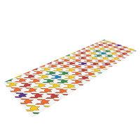 Kess Inhouse Rainbow Houndstooth by Empire Ruhl Yoga Mat