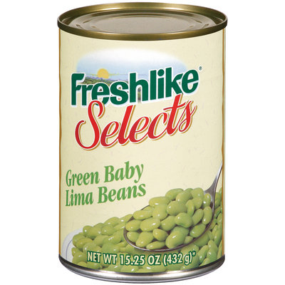 Freshlike Selects Green Baby Lima Beans 15.25 Oz Can