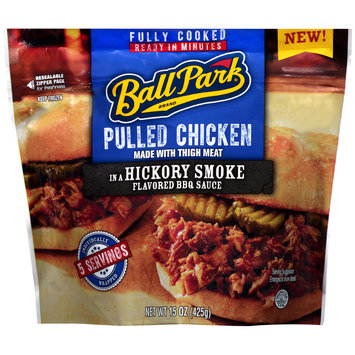 Ball Park® Pulled Chicken in a Hickory Smoke Flavored BBQ Sauce 15 oz. Stand Up Bag
