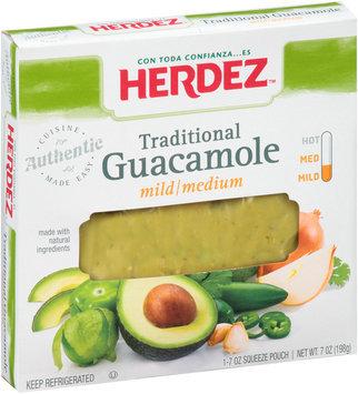 Herdez® Traditional Mild/Medium Guacamole 7 oz. Squeeze Pouch