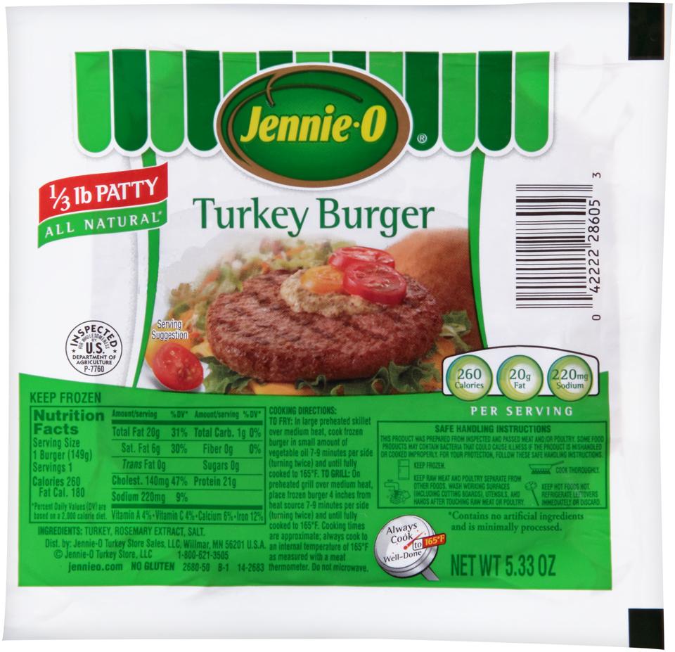 Jennie-O® Turkey Burger 5.33 oz. Pack
