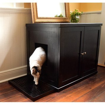 The Refined Feline Automatic Litter Box Cover in Espresso