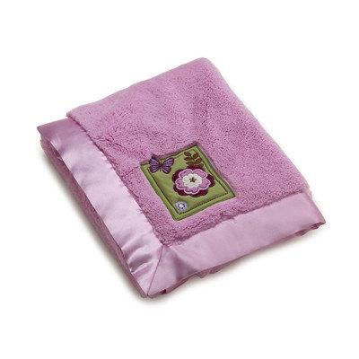 NoJo Emily Appliqued Coral Fleece Blanket Green