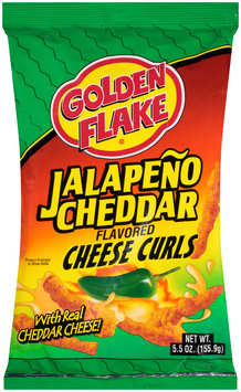 Golden Flake® Jalapeno Cheddar Flavored Cheese Curls 5.5 oz. Bag