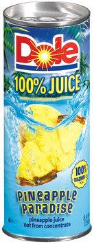 Dole 100% Juice  Pineapple Paradise 8.4 Fl Oz Can