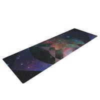 Kess Inhouse Galactic Radiance by Matt Eklund Yoga Mat Color: Blue