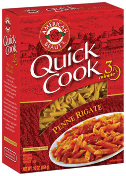 American Beauty  Quick Cook Penne Rigate 16 Oz Box