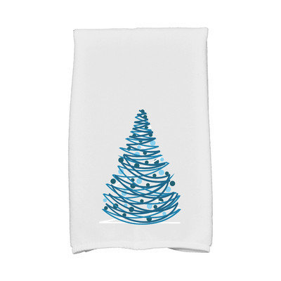 E By Design Jump for Joy Oh Christmas Tree Hand Towel Color: Gray
