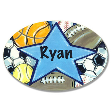 Stupell Industries Kids Room Personalization All Star Wall Plaque