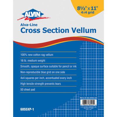 Alvin & Company Alvin 6855XP-5 Alva-Line Non-Repro Cross-Section Drawing Paper