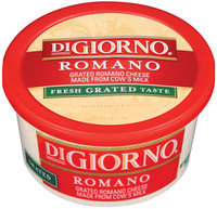 DiGiorno Romano Grated Cheese 6 Oz Tub